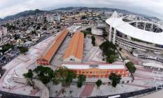 Praça do Trem, no entorno do Estádio João Havelange, o Engenhão Foto: Secretaria municipal de Obras / Divulgação