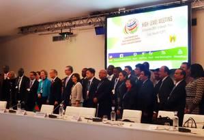 Autoridades dos países mais vulneráveis: esperança de conter avanço da temperatura em 1,5 grau Celsius Foto: Divulgação