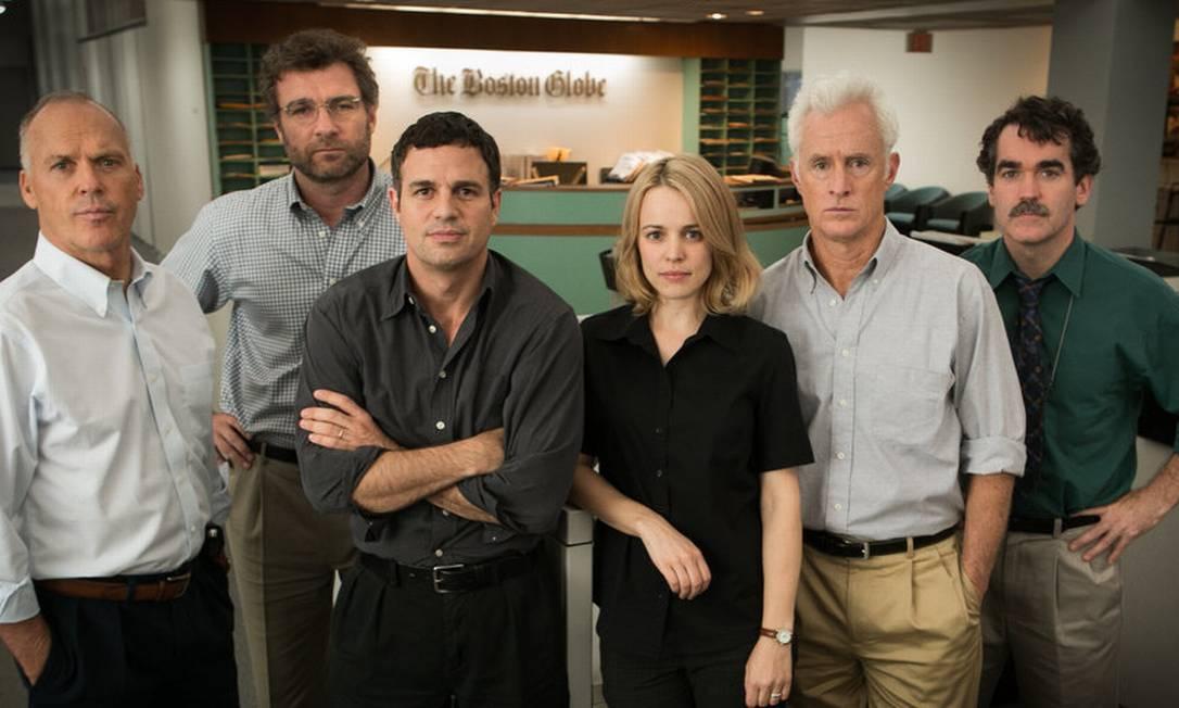 """""""Spotlight"""": Vencedor do Oscar de Melhor Filme em 2016, o longa se baseia numa história real para mostrar como uma equipe de repórteres revelou uma série de crimes de abusos sexuais cometidos por padres nos EUA Foto: Divulgação"""
