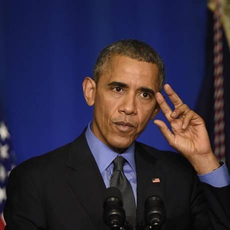 Obama: discurso inédito a favor da instituição de metas obrigatórias para corte de emissões de gases de efeito estufa Foto: MARTIN BUREAU/AFP