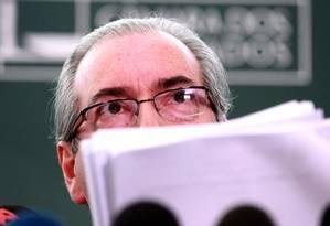O presidente da Câmara, Eduardo Cunha (PMDB-RJ) Foto: Ailton de Freitas/30/11/2015 / Agência O Globo