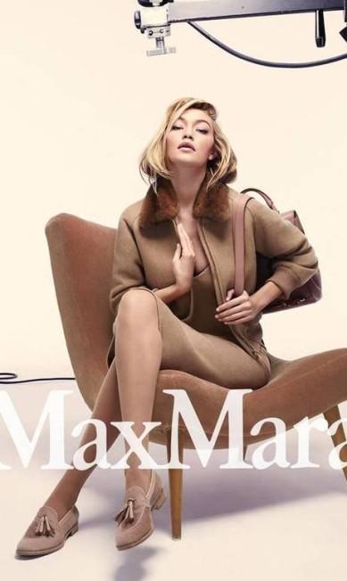 Campanhas de peso: ela posou para a Max Mara... Divulgação