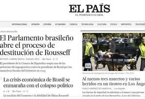 Jornal espanhol El País destaca abertura do processo de impeachment Foto: El País / Reprodução
