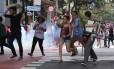O protesto fechou o cruzamento das avenidas Angélica e São João