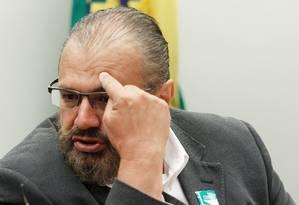 O ex-gerente da Petrobras, Pedro Barusco, durante depoimento na CPI do BNDES, na Câmara dos Deputados Foto: ANDRE COELHO / Agência O Globo