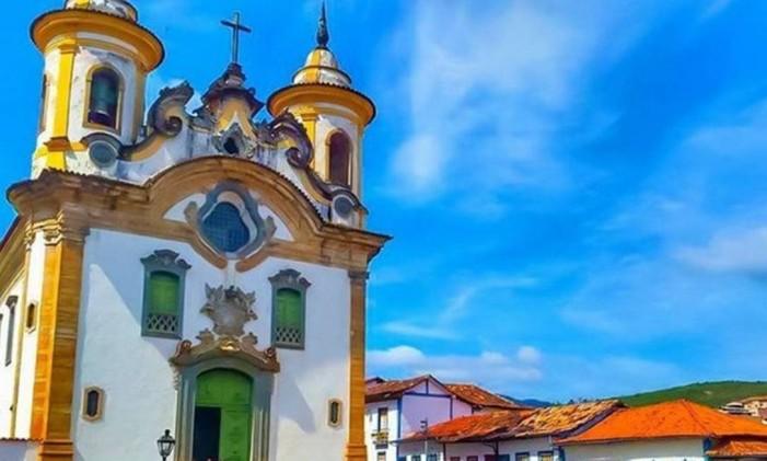 Igreja de Nossa Senhora do Carmo, em Mariana (MG) Foto: @thiagomullermorais / Instagram