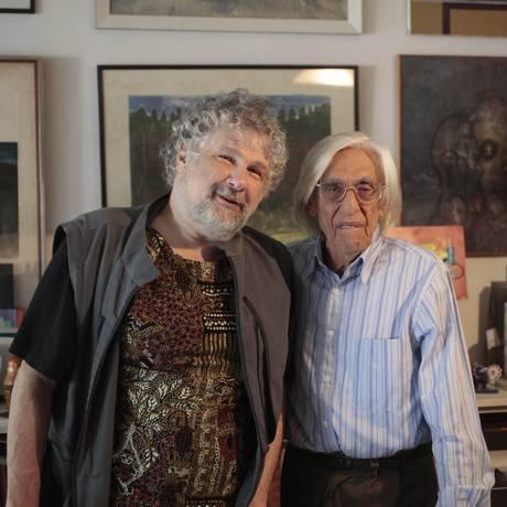 Silvio Tendler e Ferreira Gullar Foto: Divulgação