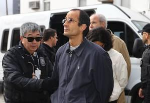 Marcelo Odebrecht, presidente da empresa, ao ser preso Foto: Geraldo Bubniak / Agência O Globo