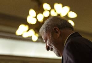 No Palácio Guanabara, Lula diz que impeachment é 'insanidade' Foto: Daniel Marenco / Agência O Globo