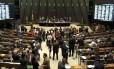 Plenário da Câmara dos Deputados: recesso virou disputa entre governo e oposição