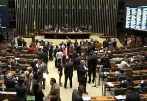 Plenário da Câmara dos Deputados: recesso virou disputa entre governo e oposição Foto: Givaldo Barbosa / Agência O Globo