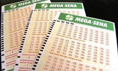 Cartelas da Mega-Sena Foto: Divulgação