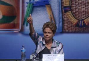 A Presidente Dilma Rousseff participa da 15ª Conferência Nacional de Saúde no Centro de Convenções Ulysses Guimarães, em Brasília. Foto: André Coelho / Agência O Globo