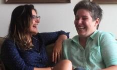 Camila Siqueira e Maria Fernanda Meza se casaram em maio em busca do reconhecimento jurídico da relação. Foto: Fernanda Dias / Agência O Globo