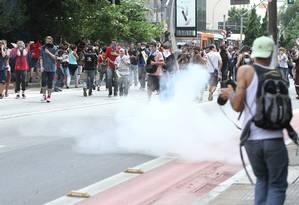 Policia Militar dispersa estudantes durante protesto na rua da Consolação, em São Paulo, ) Foto: Amauri Nehn / Brazil Photo Press