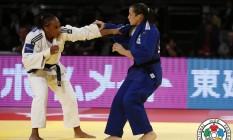 Maria Portela lutta com marrroquina Assmaa Niang na disputa da medalha de bronze no Grand Prix de Tóquio Foto: Gabriela Sabau / Gabriela Sabau
