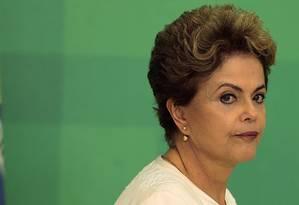 A presidente Dilma Rousseff Foto: Jorge William/02-12-2015 / Arquivo O Globo