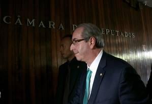 Eduardo Cunha chega à Câmara dos Deputados Foto: Ailton de Freitas / Agência O Globo