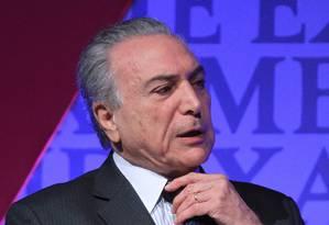 O vice-presidente Michel temer Foto: Marcos Alves/31-08-2015 / Agência O Globo