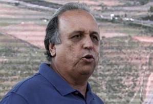 Governador Luiz Fernando Pezão Foto: Marcos Tristão / Agência O Globo