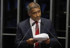 Romário: cenário mais provável é o da candidatura à prefeitura do Rio Foto: Ailton de Freitas/29-09-2015 / Agência O Globo