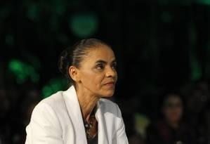 Marina Silva durante as eleições de 2014 Foto: Fernando Donasci / Agência O Globo / 5-10-2014