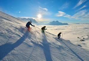 Estação de esqui nos Alpes suíços Foto: Divulgação