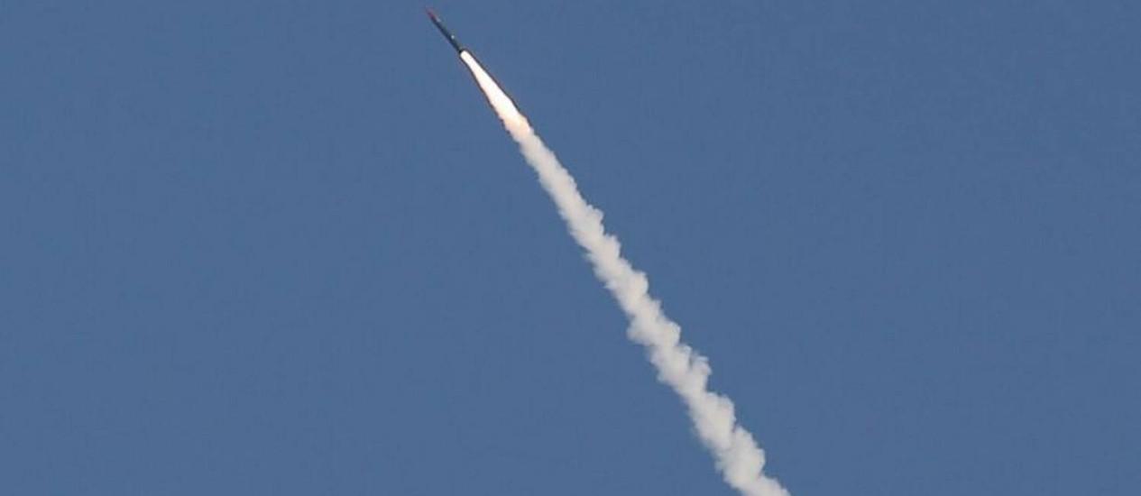 O teste com míssil balístico interceptor foi realizado nesta quinta-feira Foto: Ilan Assayad / Reuters