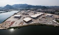 Vista aérea do Parque Olímpico em outubro deste ano. O COI acredita que tudo será entregue a tempo, apesar dos problemas políticos e econômicos do Brasil Foto: Renato Sette Camara / Prefeitura