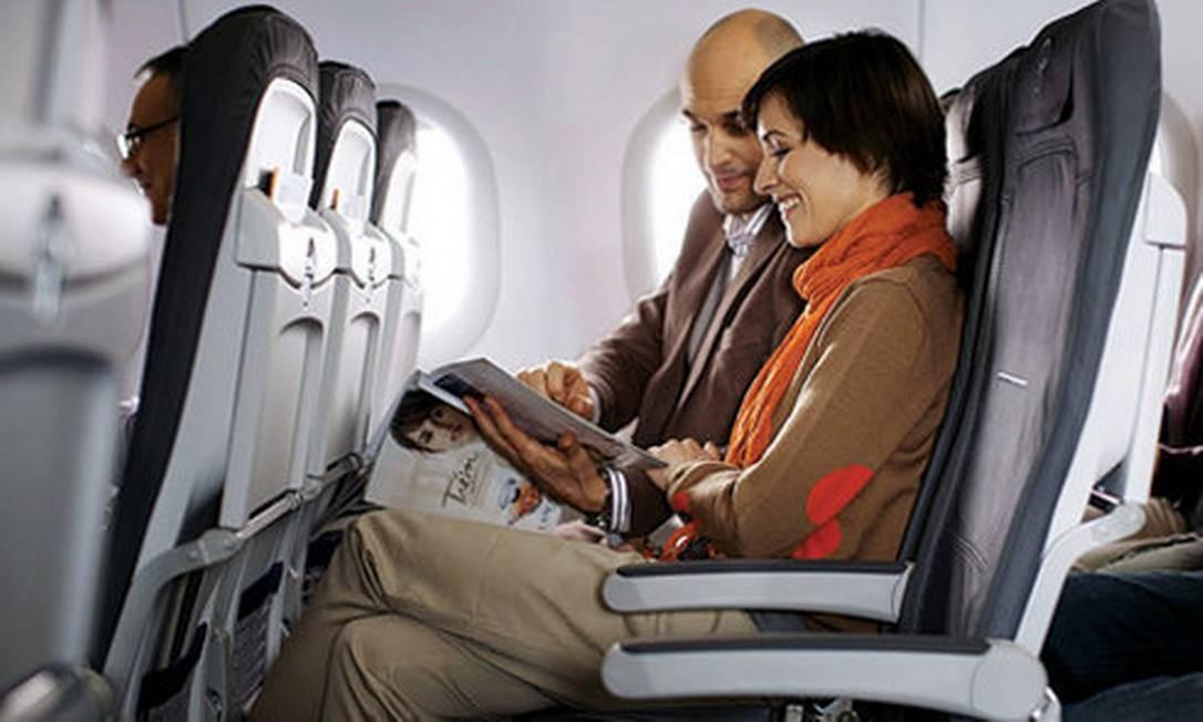 Passageiros em classe econômica Foto: Divulgação