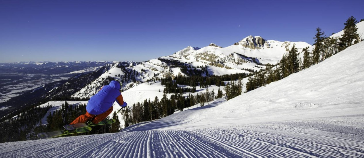 Esquiador em Jackson Hole, que completa 70 anos de atividade Foto: Divulgação