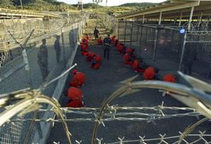 Prisão de Guantánamo, controlada pelos EUA Foto: STR / Reuters