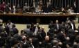 Sessão do Congresso em dezembro do ano passado durante análise dos vetos da presidente Dilma Rousseff