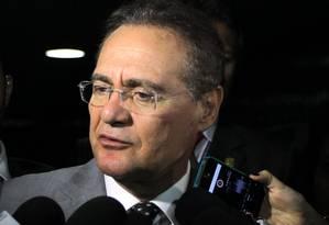 Presidente do Senado, Renan Calheiros Foto: Givaldo Barbosa / Agência O Globo