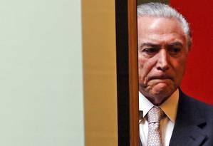 """Temer disse que aconselhou Leonardo Picciani a não dividir a bancada na Câmara: """"o governo ficou em cima dele e ele resolveu daquele jeito. Daí veio a rebelião"""" Foto: Givaldo Barbosa/6-8-2015"""