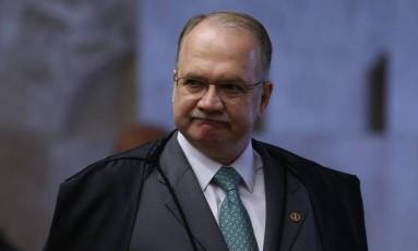 O ministro Edson Fachin durante sessão no Supremo Tribunal Federal Foto: André Coelho / Agência O Globo