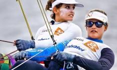 Auge. As velejadoras Martine Grael (à esquerda) e Kahena Kunze estão entre as favoritas na classe 49erFX Foto: Ivo Gonzalez / Ivo Gonzalez/10-12-2014