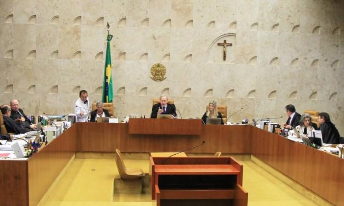 O plenário do STF: ministros analisam o rito do processo de impeahcment Foto: Ailton de Freitas / Agência O Globo