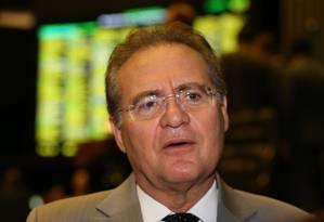 O presidente do Senado, Renan Calheiros (PMDB-AL) Foto: Ailton de Freitas / Agência O Globo / 17-12-2015