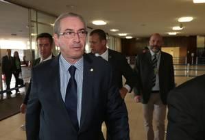 Cunha: investigação indica que recebeu propina para liberar financiamento da Caixa Foto: Ailton de Freitas / Agência O Globo