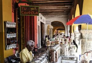 Portal de los Dulces, no centro histórico de Cartagena (Colômbia), cenário de obras de García Márquez Foto: Divulgação/David Estrada/FNPI