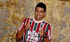 Diego Souza de volta ao Fluminense dez anos depois: reforço para a temporada de 2016 Foto: Divulgação Fluminense F.C.