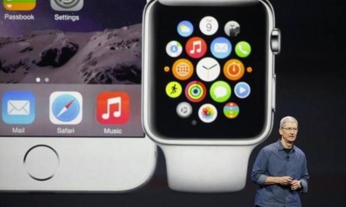 Applewatch, um dos principais lançamentos da empresa no ano Foto: OGlobo