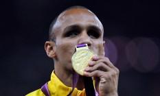 Felipe Gomes, ouro nos 200m do atletismo das Paralimpíadas de Londres Foto: Agência O Globo
