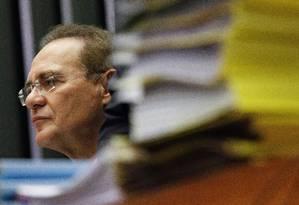 Presidente do Senado, Renan Calheiros Foto: Angência O Globo / André Coelho/17-11-2015