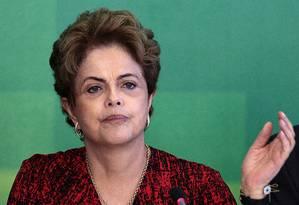A presidente Dilma Rousseff Foto: Jorge William / Agência O Globo / 17-12-2015