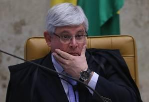 O procurador-geral da República, Rodrigo Janot, durante sessão no STF Foto: André Coelho / Agência O Globo / 16-12-2015