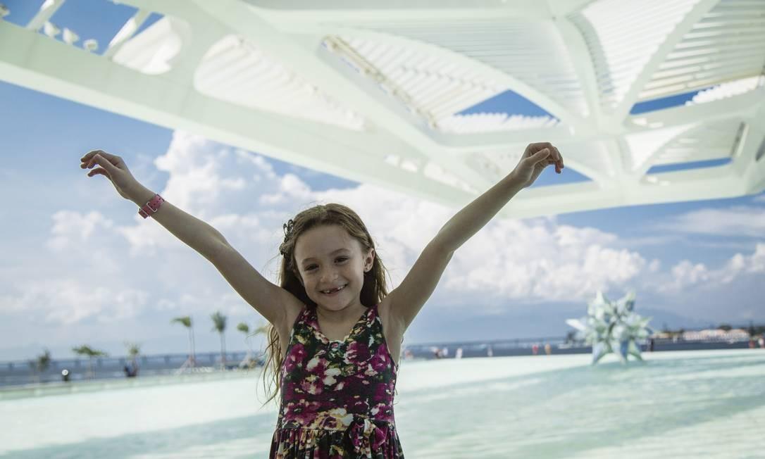 As crianças dominaram todas as áreas do museu Foto: Fernando Lemos / Agência O Globo