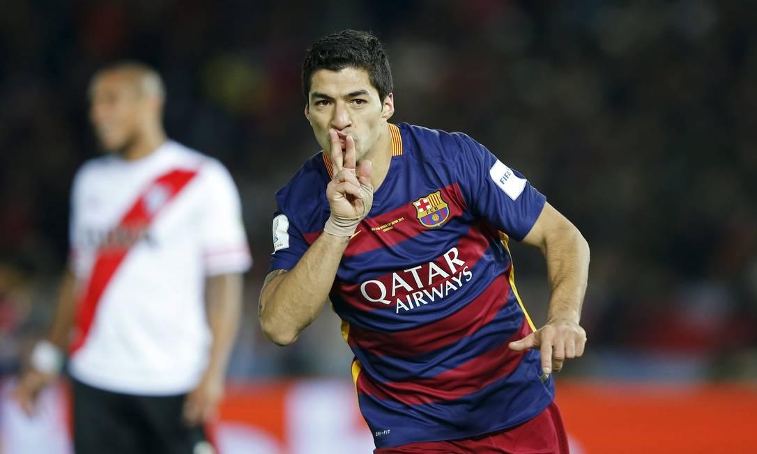 Luís Suárez marcou dois gols na decisão. O primeiro foi num chute de perna direita, o segundo foi de cabeça Toru Hanai / REUTERS