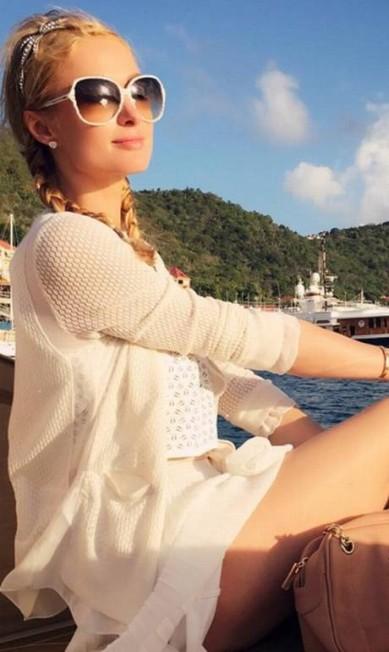 As férias glamourosas de Paris, num iate, no Caribe Reprodução/ Instagram